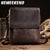 NEWEEKEND Retro Genuine Leather Cowhide Crazy Horse Shoulder Messenger Bag Crossbody iPad Briefcase Portfolio Sling Handbag 8069
