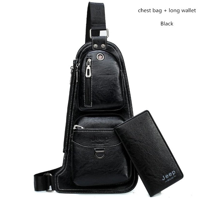 64e911121e8 JEEP BRAND New Men Messenger Bags Hot Crossbody Shoulder Bag Famous Man's  Leather Sling Chest Bag Fashion Casual 6196