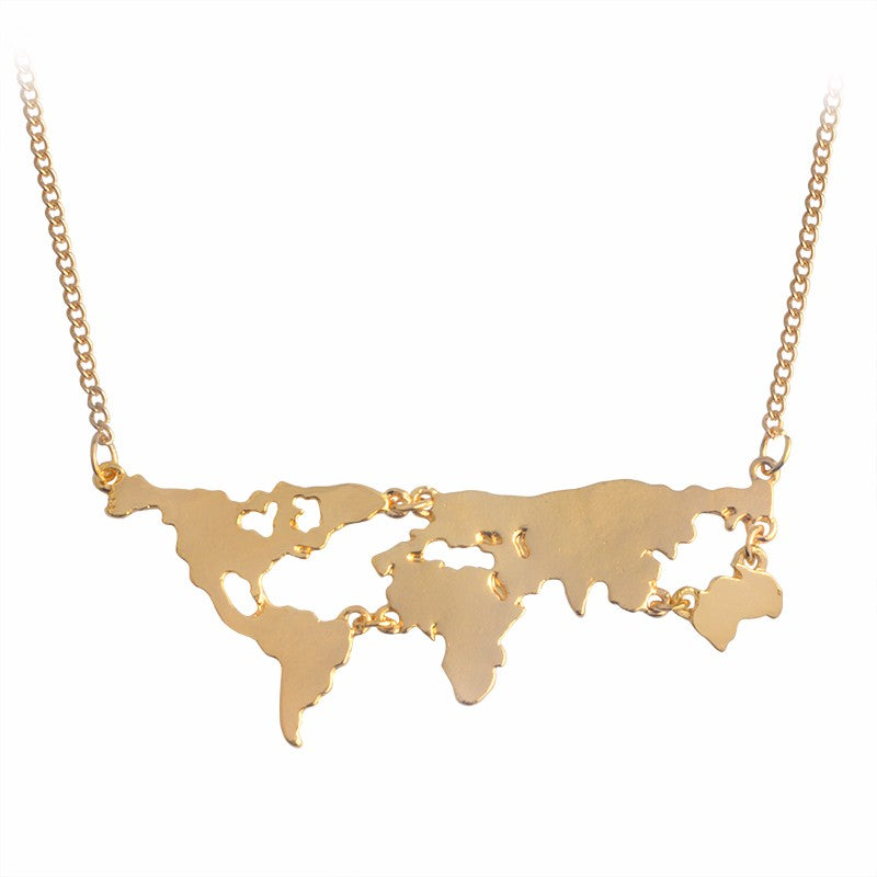 Seven Seas World Map Necklace