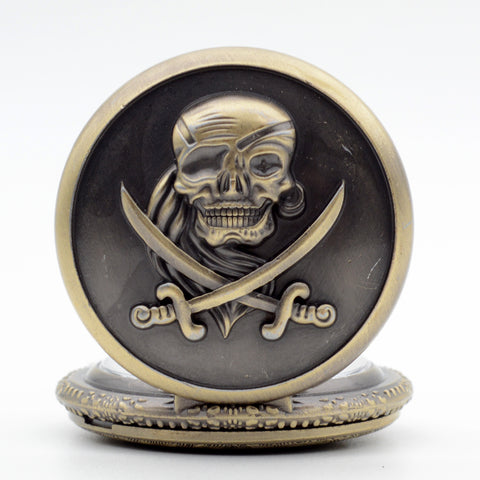 Globetrotting Pirate Pocket Watch
