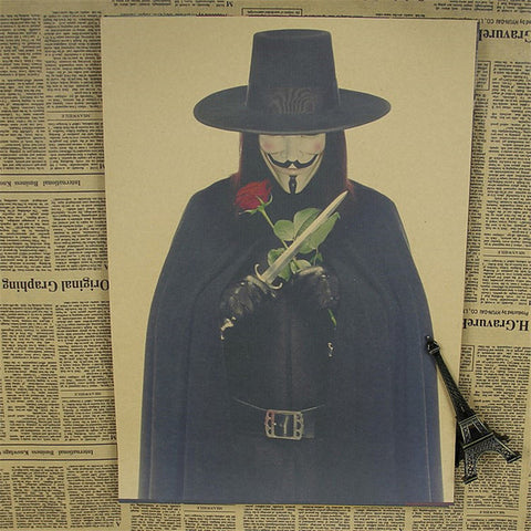 V For Vendetta Vintage Poster