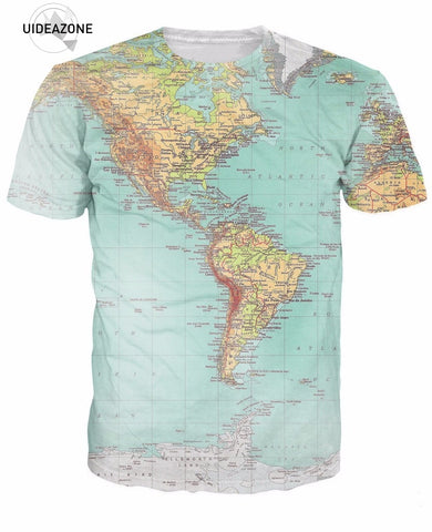 UIDEAZONE World Map T-shirt