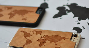 Bamboo World Map iPhone Case
