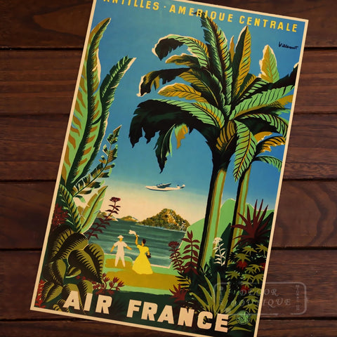 Air Companies Vintage Travel Poster
