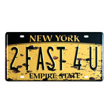 Famous Cities Car Plates