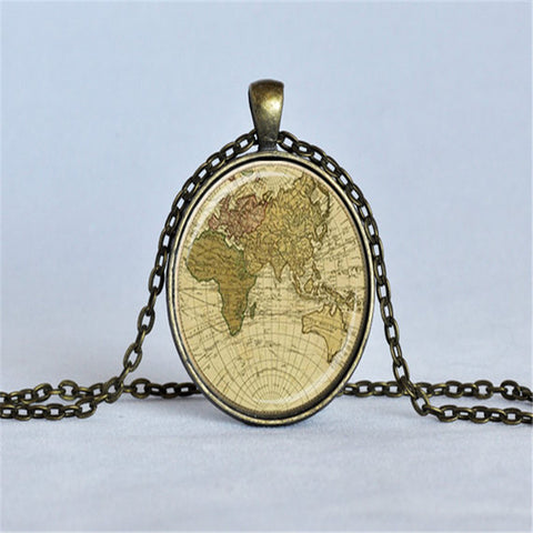 Explorer Vintage Map Pendant