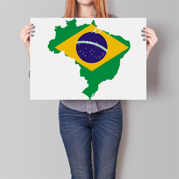 South America Map Sticker