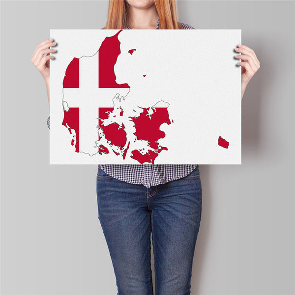 Flag World/Country Map Sticker Poster