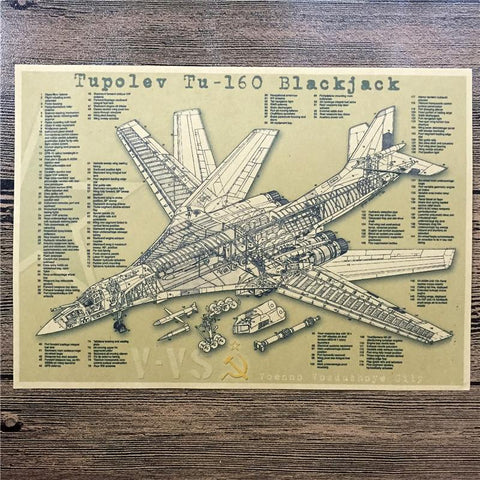Russia TUPOLEV Vintage Poster