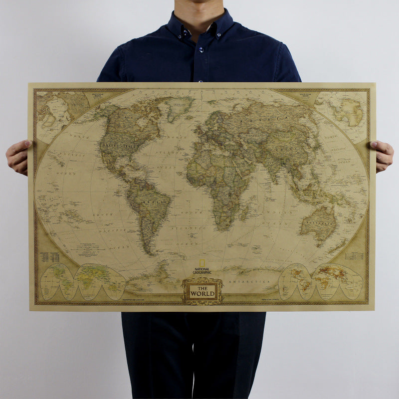 Vintage Classic World Map