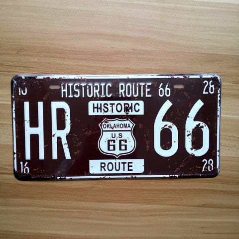US Route 66 Car Plate