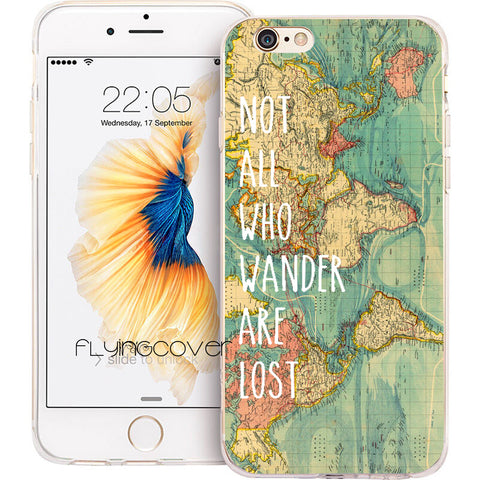 Flyncover World Map iPhone Case
