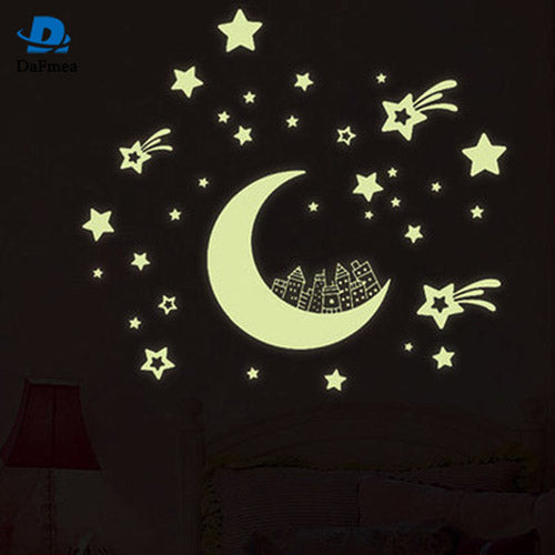 Fluorescent 3D Star Wall Stickers