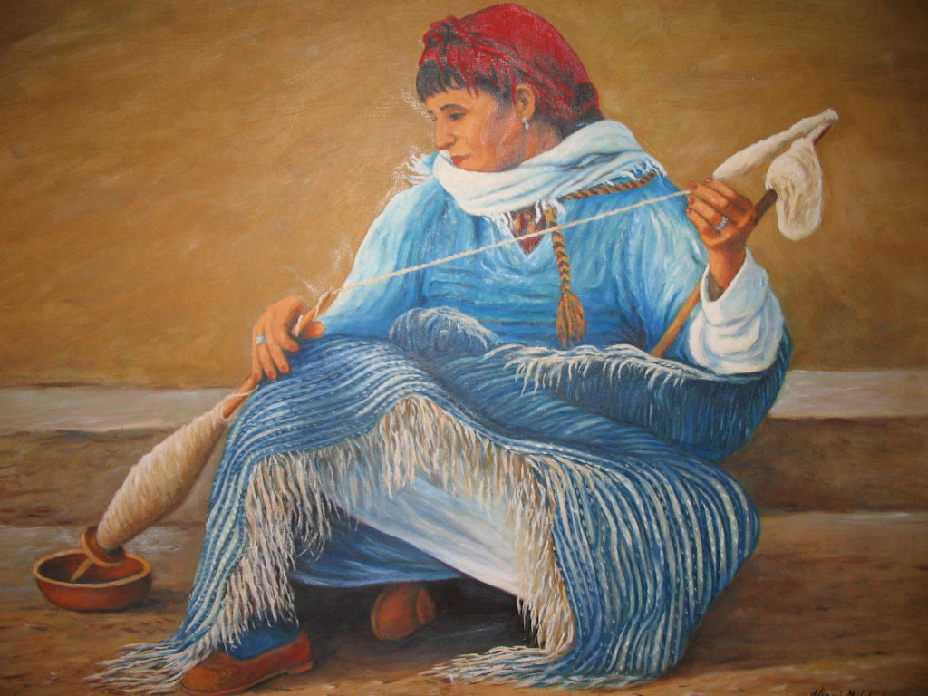 THE ART OF WEAVING OF MOROCCAN BERBER RUGS