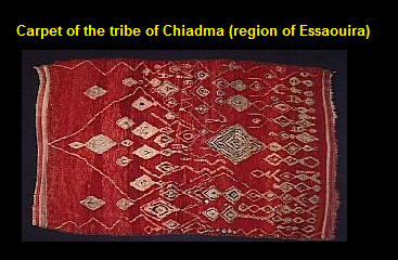 Carpet of the tribe of Chiadma -region of Essaouira