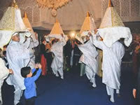 The bearers of téfors and dancers moroccan marriage ceremony