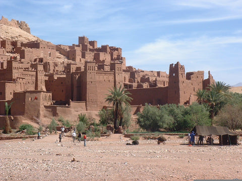 Kasbah of Ait Ben haddou ouarzazate city moroccan rugs