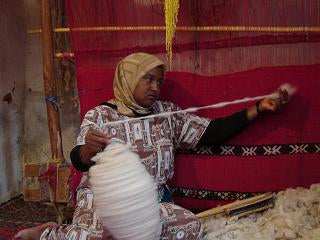 spinning wool moroccan rugs