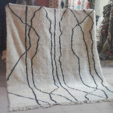 maintenance of moroccan berber rug-beni ouaraine