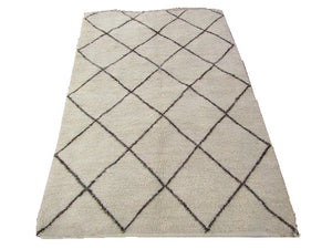 Rug-Berber Tribal Beige color Moroccan hand woved Rug 154X103 cm