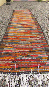 Moroccan-Berber-Tribal-Red-Orange-Color-Runner-Rug-3X5