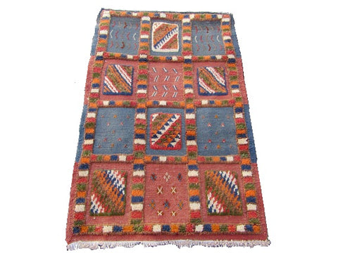 Moroccan small berber are rug 99X69 cm-39X27 inch