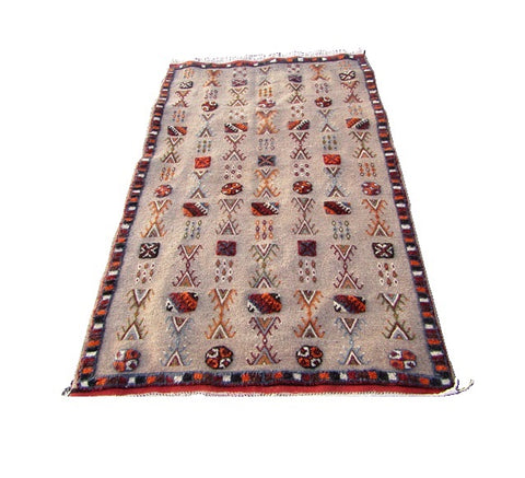 Moroccan berber tribal area rug 67X45 iches-170X113cm