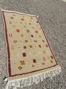 Rug- Tribal berber Colored Multishapes Moroccan Rug 59x39 inches