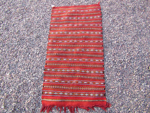 Moroccan rug, small kilm red