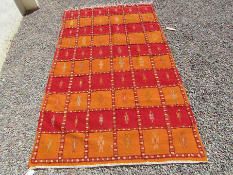 Moroccan rug, berber carpet, orange rug