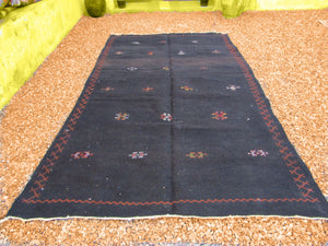 Black  Moroccan Rug, berber carpet