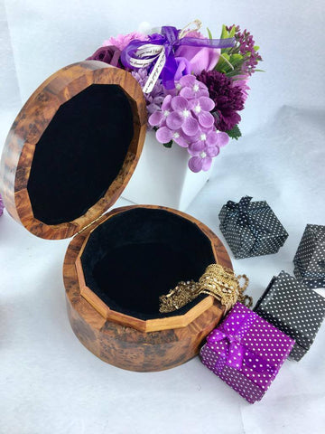 Memory Thuya Wooden jewelry box, earrings nickelace and bracelets storage keepsake jewelry holder gift box for her
