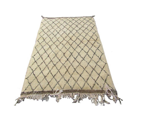Moroccan berber  beni ouaraine beige color are rug 60X40 inches