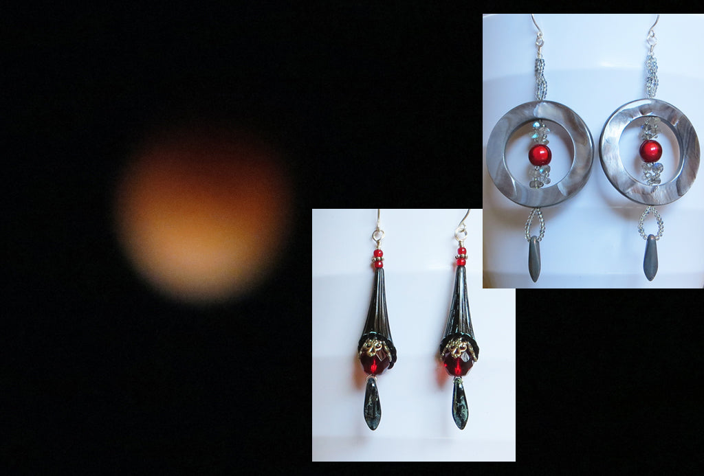 Blood Moon Earrings