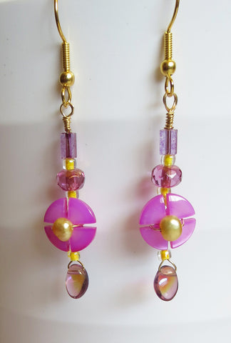 Pink Clover Earrings