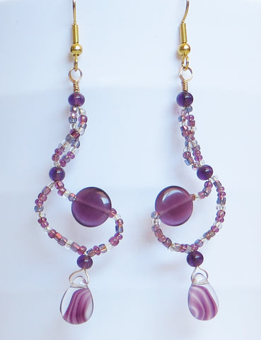 Plum Twist Earrings