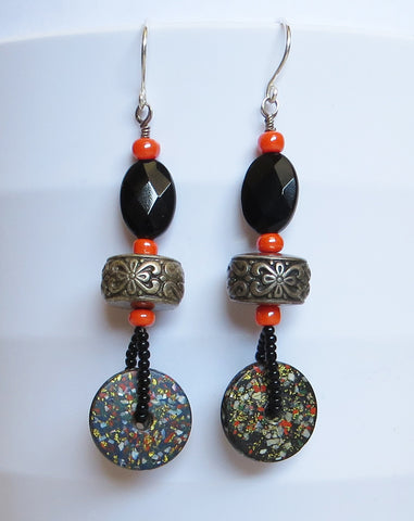 Speckled Disc Earrings