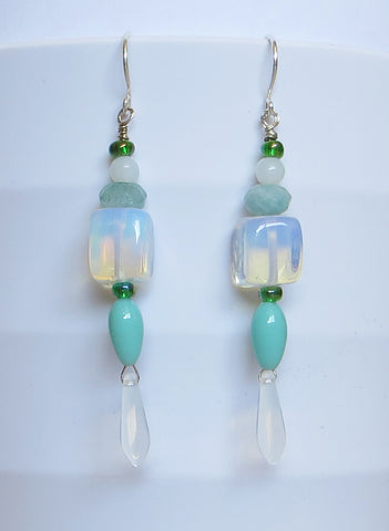 Sea Opal Earrings