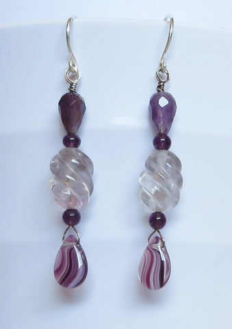Plum Swirl Earrings
