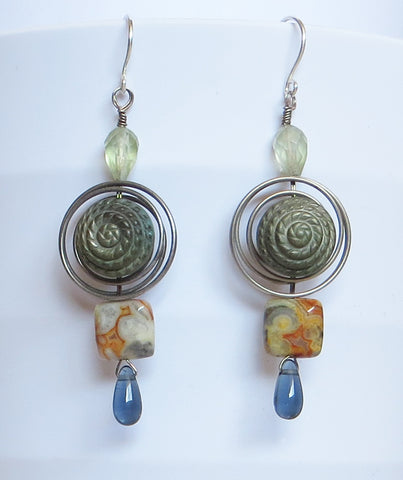 Sage Coil Earrings