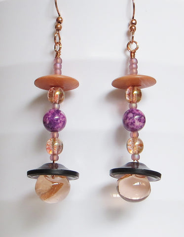 Purple Pagoda Earrings