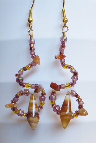 Stone Shell Earrings