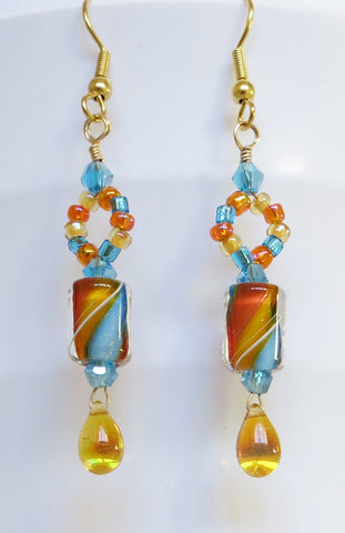 Turquoise Twist Earrings