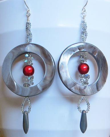 Blood Moon Halo Earrings