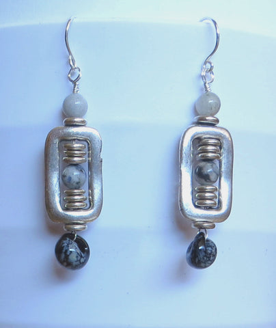 Silver Disk Earrings