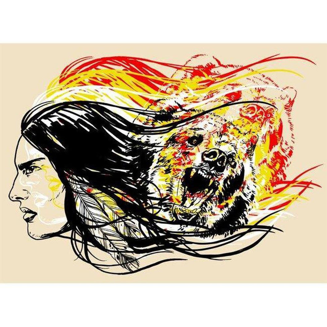 Bear Clan - ScreenPrint-Chippewar-First-Nations-Artist