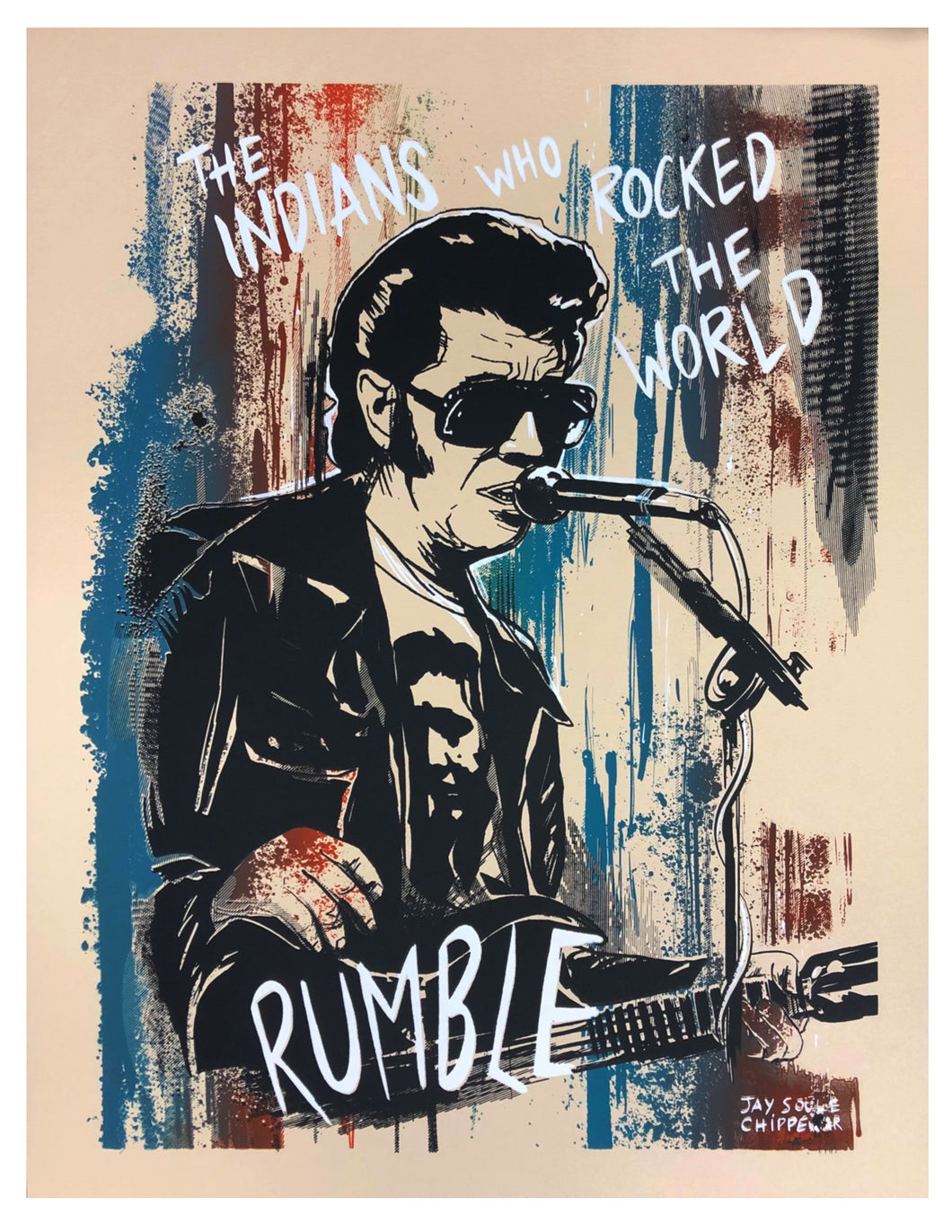 Link Wray Limited Edition Screen Print