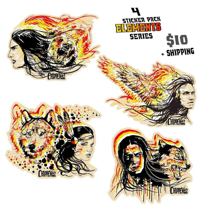 Elements sticker pack-Chippewar-First-Nations-Artist