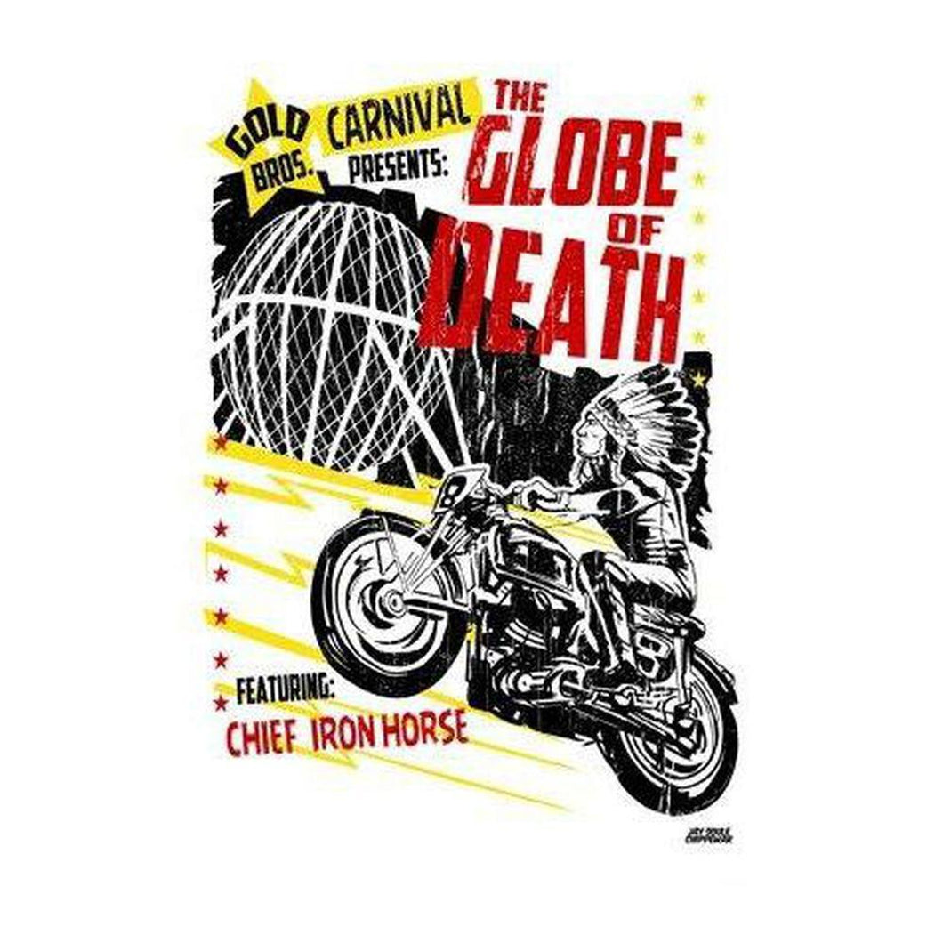 Globe of Death Print-Chippewar-First-Nations-Artist