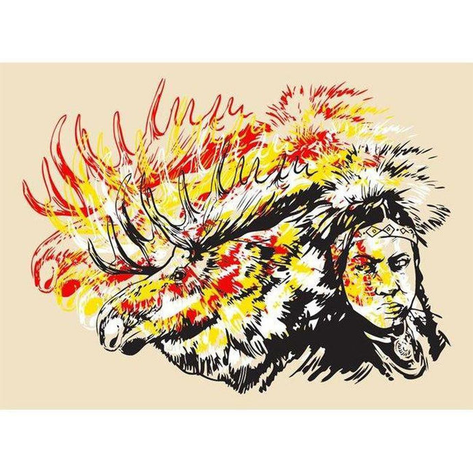 Moose Jaw- ScreenPrint-Chippewar-First-Nations-Artist